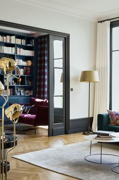 If you even paint the walls and the floor of a typical Parisian apartment just white, you already get a beautiful space - French architecture itself is ✌Pufikhomes - source of home inspiration Parisian Apartment, Luxury Dining Room, Dark Interiors, Interior Design Companies, Home Trends, Luxurious Bedrooms, Interior Design Inspiration, Luxury Furniture, Living Room Decor