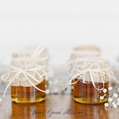 25 pcs Bride 2 Bee Honey Favors 30ml / 1oz by SweetGreekAlchemies