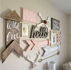 Want a woodland theme that looks a little more feminine? Just add a pop of pink!