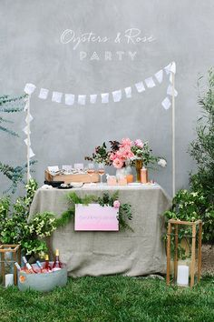 Oysters and Rosé party with @crateandbarrel and 100 Layer Cake #crateandbarrel #cratewedding