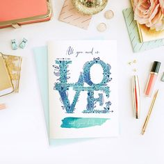 All you need is LOVE...and your besties! Will you be my bridesmaid? - Wedding Card