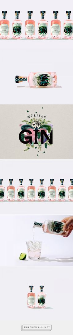 Graphic Design and Packaging: Wolffer Gin by IWANT design | HeyDesign Graphic Design & Typography Inspiration #logodesign #graphicdesign #visualidentity #packaging - created via https://pinthemall.net