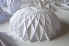 Architecture Origami Shelter Folding Architecture, Architecture Student, Architecture Design, Leaf Structure, Geodesic Dome, Paper Folding, Tensile Structures, Origami Design, Paper Engineering