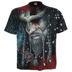 Looking for Spiral - Mens - Viking WRAP - Allover T-Shirt Black ? Check out our picks for the Spiral - Mens - Viking WRAP - Allover T-Shirt Black from the popular stores - all in one. Crane, Vikings, Types Of T Shirts, Metal T Shirts, Viking Warrior, Traditional Fashion, Dark Fashion, Fashion Men, Unisex