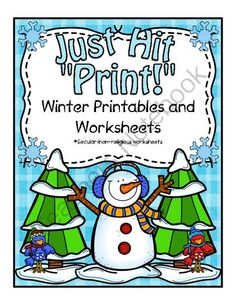 Winter Printables and Worksheets - In this pack you will find over 85 worksheets that will fit perfectly with any winter unit. You can use these worksheets as morning work, bell ringers, homework, review, enrich, and so much more!.  A GIVEAWAY promotion for Winter Printables from CurriculumCounts on TeachersNotebook.com (ends on 12-1-2013)