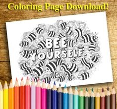 Insect Coloring Pages, Colouring Pages, Insects, Unique Jewelry, Handmade Gifts, Etsy, Quote Coloring Pages, Kid Craft Gifts, Coloring Pages