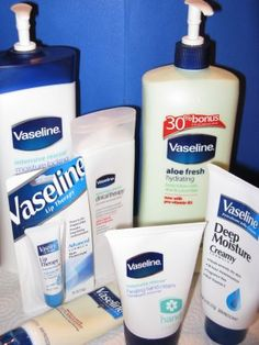 According to phone customer service reps, Vaseline products do not contain gluten, except for the Total Moisture Lotion (yellow bottle) wh. Homemade Beauty Tips, Beauty Tips For Hair, Best Beauty Tips, Natural Beauty Tips, Beauty Hacks, Beauty Secrets, Diy Beauty, Vaseline Products, Vaseline Beauty Tips