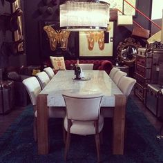 Instagram by: @stockstonsmcr  Timothy Oulton Junction Dining Table with Mimi Dining Chairs #Stocktons #TimothyOulton