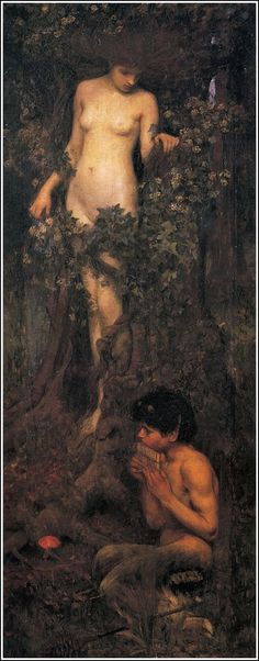 'A Hamadryad' by John William Waterhouse
