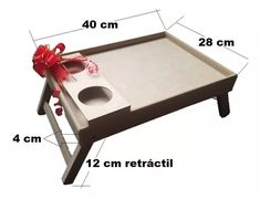 Mesa Desayuno Para Cama Medida 40 X 28 Cm + Incluye Envio  - $ 29.900 Diy Your Furniture, Folding Furniture, Easy Wood Projects, Easy Woodworking Projects, Bed Tray Table, Diy Changing Table, Wood Creations, Wood Working For Beginners, Wood Tray