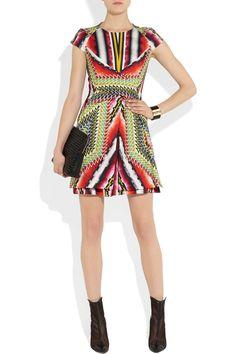 Peter Pilotto|Che V printed stretch-silk twill dress|NET-A-PORTER.COM