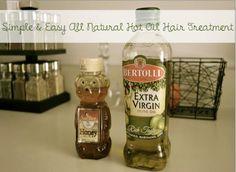 Simple & Easy Natural Hot Oil Hair Treatment