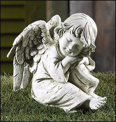Prayerful Angel Garden Statue Memorial Or Garden SET OF 2
