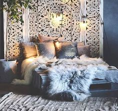 51 Ideas Home Decored Chic Cozy Bohemian Bedrooms Cozy Bedroom, Trendy Bedroom, Home Decor Bedroom, Modern Bedroom, Living Room Decor, Diy Home Decor, Bedroom Ideas, Master Bedroom, Moroccan Bedroom Decor