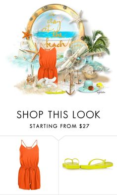 """""""A Day at the Beach"""" by angkclaxton ❤ liked on Polyvore featuring New Look and Havaianas"""