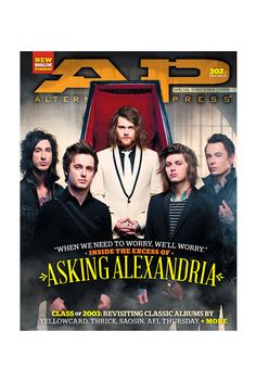 302.1 Asking Alexandria -- subscriber only cover (09/13)