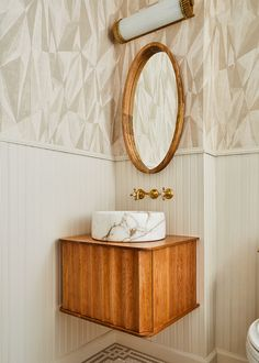 Lake House Bathroom, Loft Bathroom, Bathroom Vanity Units, Bathroom Interior, Bathroom Before After, Sarah Sherman Samuel, Soho Loft, Vintage Stool, Floating Vanity