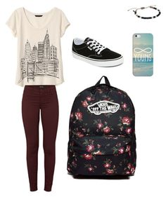 Casual any day outfit by sassmaster446 on Polyvore featuring polyvore, fashion, style, Banana Republic, J Brand, Vans, Scotch & Soda, Casetify and clothing
