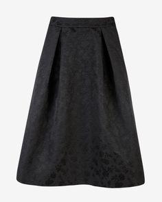 Ted Baker UK | Floral jacquard midi skirt