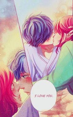 Kou y Futaba ~ Manga ~ Kiss ~ Ao Haru Ride