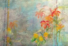 "Misty Morn by Lynn Edwards Newman. This misty image of sky and flowers creates an etheral feel for this giclee print. Its soft image is serene and enhances any room, from office to living spaces to bedrooms.     This limited edition 20""x 30"" giclee is hand signed and on acid-free archival paper to be enjoyed for many years. Price: $100.00 On Artful Vision, www.artfulvision.com a portion of your purchase is donated to a participating non-profit of your choice. #art #prints #giclee #poster"