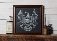 Burning Eagle -  Screen Print - Limited   Presentation doesn't get much better than this.