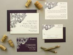 Vintage Vineyard Winery theme Wedding Invitation