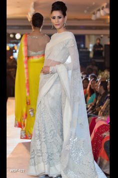 Stunning white saree