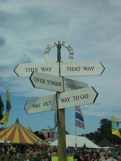 The best sign I had ever seen. Beautiful Days Festival.