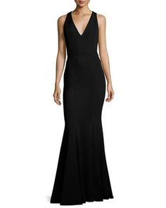 Sleeveless+Stretch+Jersey+Mermaid+Gown,+Black+by+ZAC+Zac+Posen+at+Neiman+Marcus.