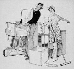 Moving Day, art by Norman Rockwell, 1959.