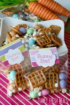Bunny Bait Recipe - FamilyFreshMeals.com  #easter #spring #funfood
