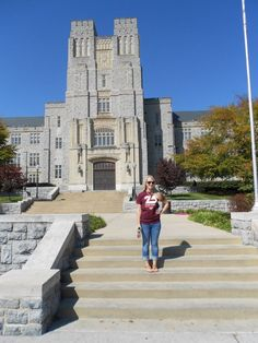 16. Spend a nice sunny day on the Drillfield and take a picture on the steps at Burruss Hall