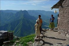 Indigenous Tarahumara peoples in Mexico's Copper Canyon.