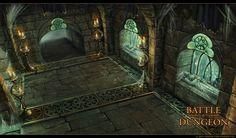 Battle Dungeon - Goldstone Crypt by LouisaGallie.deviantart.com on @deviantART