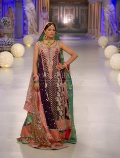 Pakistani Bridal Wear Collection By Bunto Kazmi Bunto Kazmi, Bridal Dress Design, Pakistani Bridal Wear, Colourful Outfits, Fashion Details, Bridal Dresses, Designer Dresses, Marie, Formal Dresses