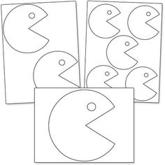 Printable Pacman Patterns from PrintableTreats.com