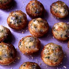 Onion-Cheese Puffs (Saveur): A retro appetizer that is almost embarrassingly simple. I'm sure they'd be extremely popular at any party!