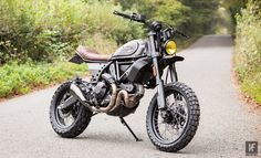 Kevils Ducati Desert Sled - The Bike Shed Ducati Scrambler Custom, Scrambler Motorcycle, Custom Motorcycles, Custom Bikes, Motorcross Bike, Tracker Motorcycle, Moto Bike, Motorcycle Style, Cafe Racer Style