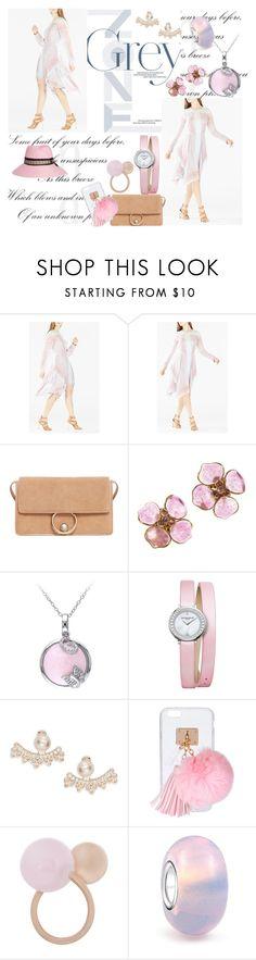 """Pinky pink💗💅🏻👛🌸"" by mmsbeg ❤ liked on Polyvore featuring BCBGMAXAZRIA, MANGO, Chanel, Baume & Mercier, Kate Spade, Ashlyn'd, Marjana von Berlepsch, Bling Jewelry and Maison Michel"