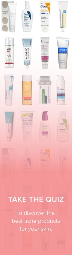 I got Jojoba Oil, Benzoyl Peroxide, CeraVe Moisturizer, and tretinoin. Take the quiz to discover the best treatments for your skin.