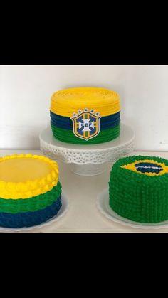 Inspiração para comemorar a copa #rumoaohexabrasil 26th Birthday, Birthday Cake, Sport Cakes, Soccer Party, Fondant, Cake Decorating, Food And Drink, Pastel, Printables