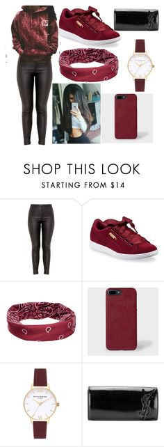 """Cute Outfit #17"" by legendanceisbae on Polyvore featuring Puma, Mudd, Paul Smith, Olivia Burton and Yves Saint Laurent"