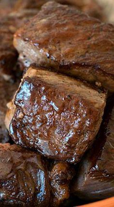 Steak Bites - A Family Feast® Best Beef Recipes, Great Recipes, Favorite Recipes, Yummy Recipes, Healthy Recipes, Entree Recipes, Grilling Recipes, Cooking Recipes, Traeger Recipes