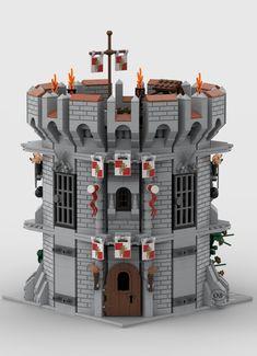 Chateau Lego, Lego Village, Amazing Lego Creations, Lego Castle, Awesome Lego, Office Designs, Lego Stuff, Castles, Brick
