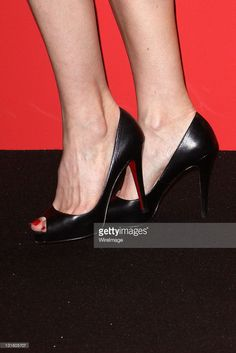 Karin Viard (shoe detail) attends the red carpet arrivals at le Fouquets le Fouquets after 36th Cesar Film Awards at Theatre du Chatelet on February 25, 2011 in Paris, France.