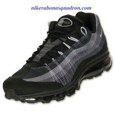 bc0a1f585 Nike Air Max 95 Dynamic Flywire Mens Black Wolf Grey Anthracite Dark Grey  554715 001 Air