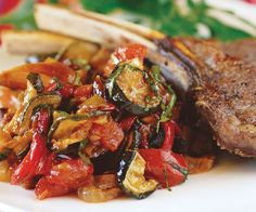 Roasted Ratatouille -- so making with this week's eggplant! Here's a mostly hands-off version of ratatouille that's different in character from my sautéed one but also delicious. It yields a bit less, but by using two sheet pans, you'll have… Side Dish Recipes, Vegetable Recipes, Vegetarian Recipes, Cooking Recipes, Healthy Recipes, Lamb Recipes, Vegan Vegetarian, Summer Recipes, Great Recipes