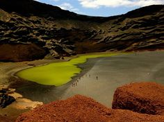 Green lake,  Lanzarote