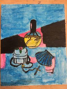 Filternaam: Composition Kunststijl: Kubisme Omdat het spullen zijn die erg belangrijk voor mij zijn. Compositie naam: driehoekscompositie